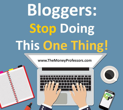 Bloggers: Stop Doing This One Thing