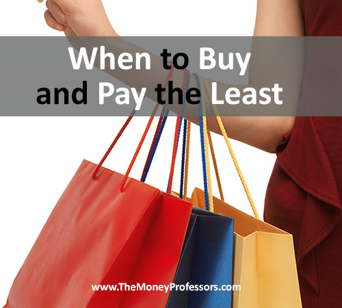 When to Buy and Pay the Least